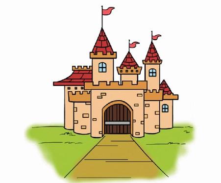 современный замок, как нарисовать легко и красиво фото 8