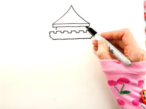 как нарисовать замок детям легко и красиво фото и видео 7