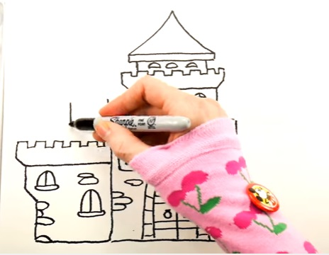 как нарисовать замок детям легко и красиво фото и видео 10