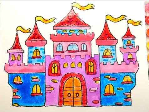 как нарисовать замок детям легко и красиво фото и видео 12