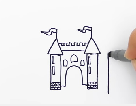как нарисовать замок детям легко и красиво фото и видео 15