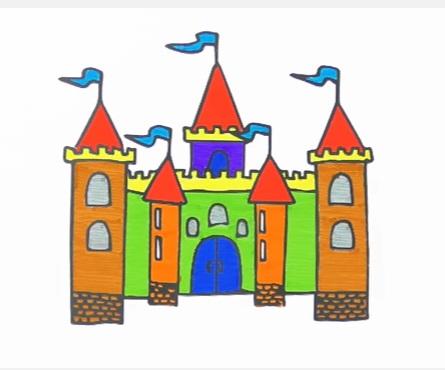 как нарисовать замок детям легко и красиво фото и видео 18