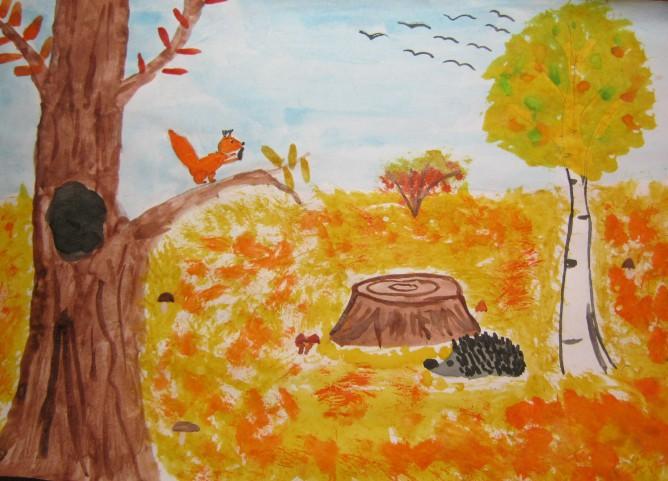 осенние рисунки уместные для детского сада и школы 2018 фото 4