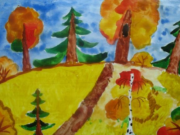 готовые работы на тему «Осенний пейзаж» фото 3