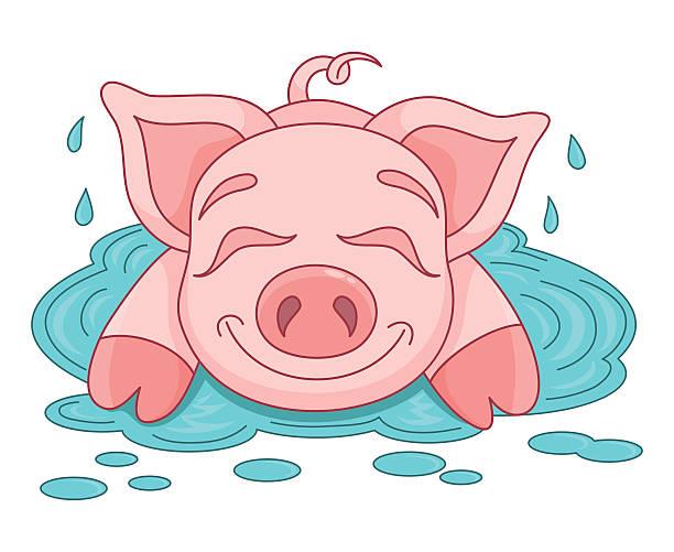 рисунок свиньи (хрюшки, поросят) - символа 2019 года фото 2