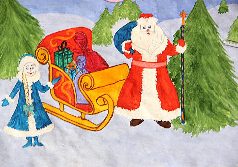 рисунки для детей на Новый год 2019, фото примеры 1