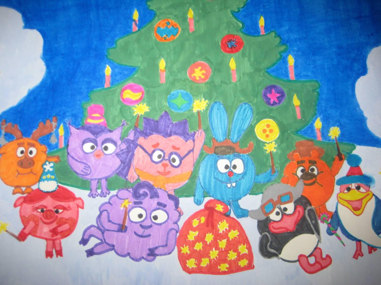 рисунки для детей на Новый год 2019, фото примеры 5