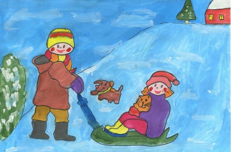 рисунки для детей на Новый год 2019, фото примеры 8
