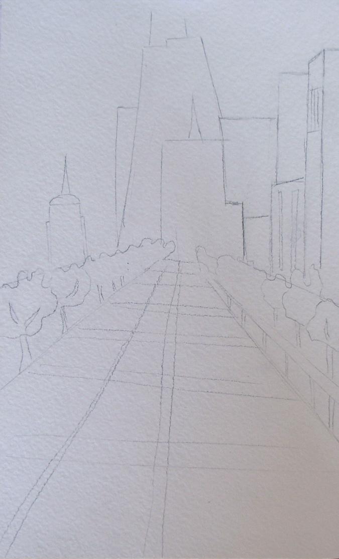 городской пейзаж рисунок карандашом 6 класс поэтапно - другие варианты на фото 2