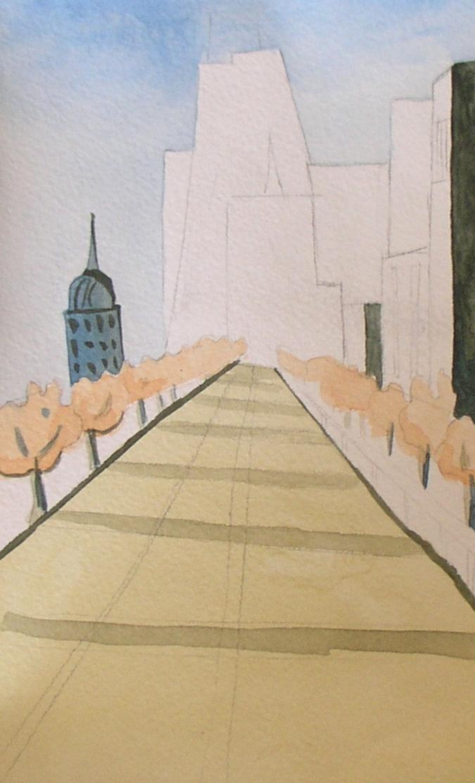 городской пейзаж рисунок карандашом 6 класс поэтапно - другие варианты на фото 3