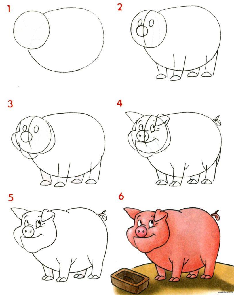 учиться рисовать карандашом поэтапно по картинками корпус
