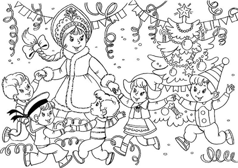 Новогодние раскраски 2019 для детей и взрослых на Новый ...