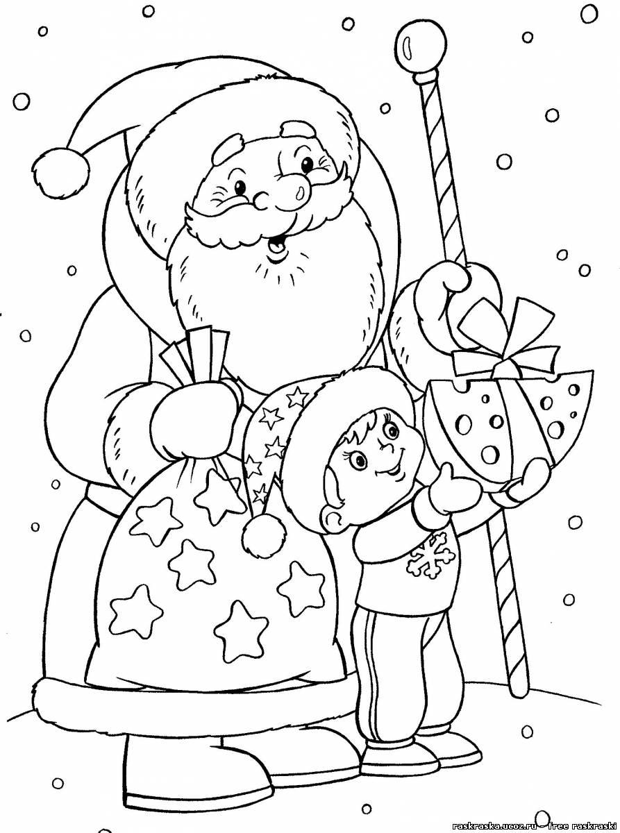 Рисунок новому году для детей