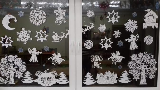 новогодние вытынанки на окнах, фото 4