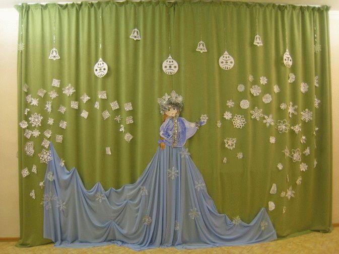 новогодние вытынанки на шторах, фото 3