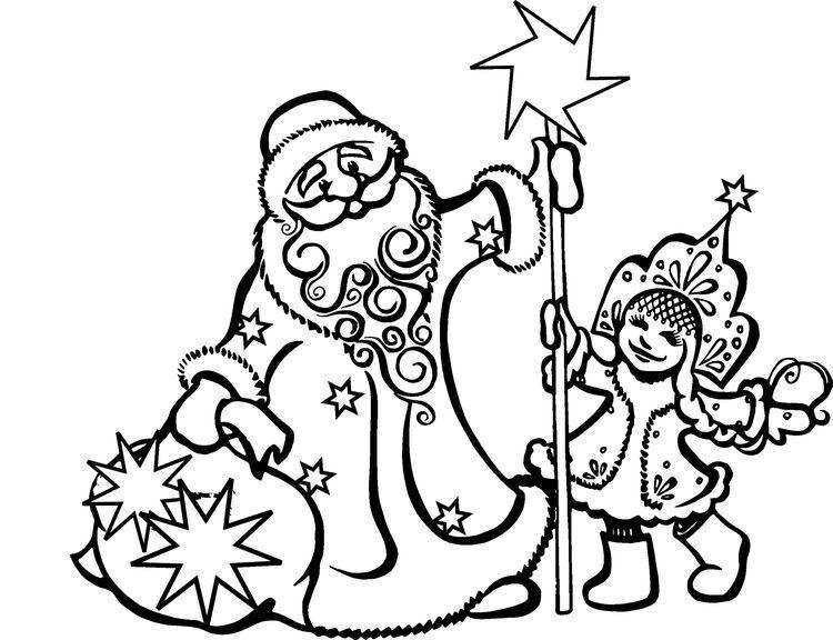 Дед Мороз, снегурочка, сани фото 1
