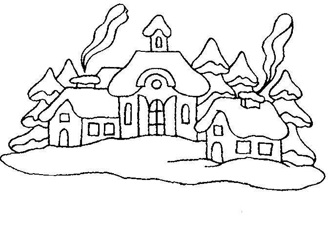 дома в снегу фото 2