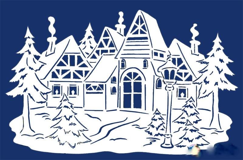 дома в снегу фото 3