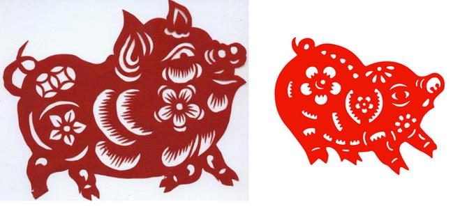 вытынанка Свинья - символ Желтого Земляного года 2019 фото 1