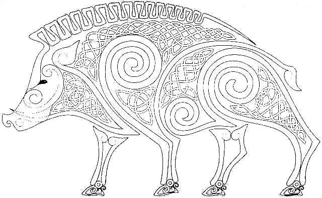 вытынанка Свинья - символ Желтого Земляного года 2019 фото 5