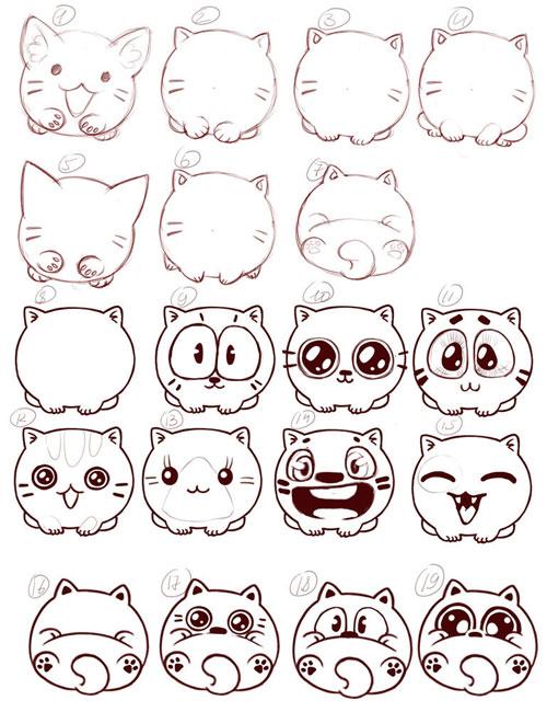 другие няшные рисунки карандашом для срисовки, фото 2