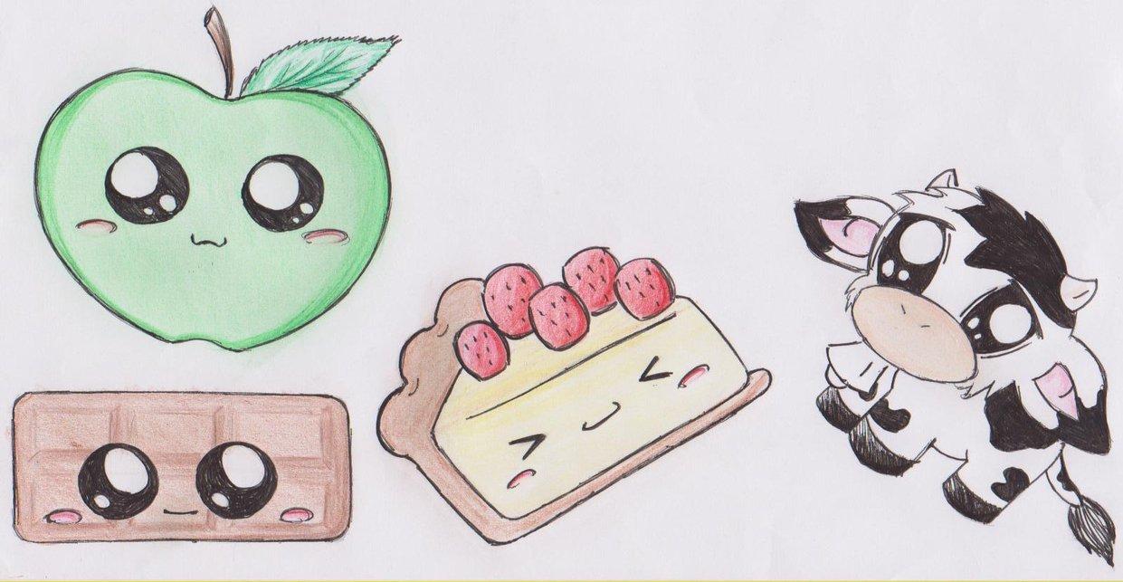 няшные аниме рисунки карандашом фото 1