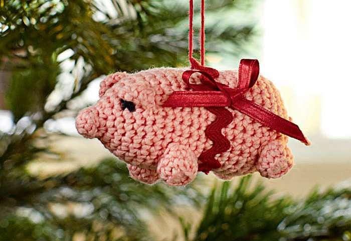 игрушка-свинья на еловую ветку фото 3