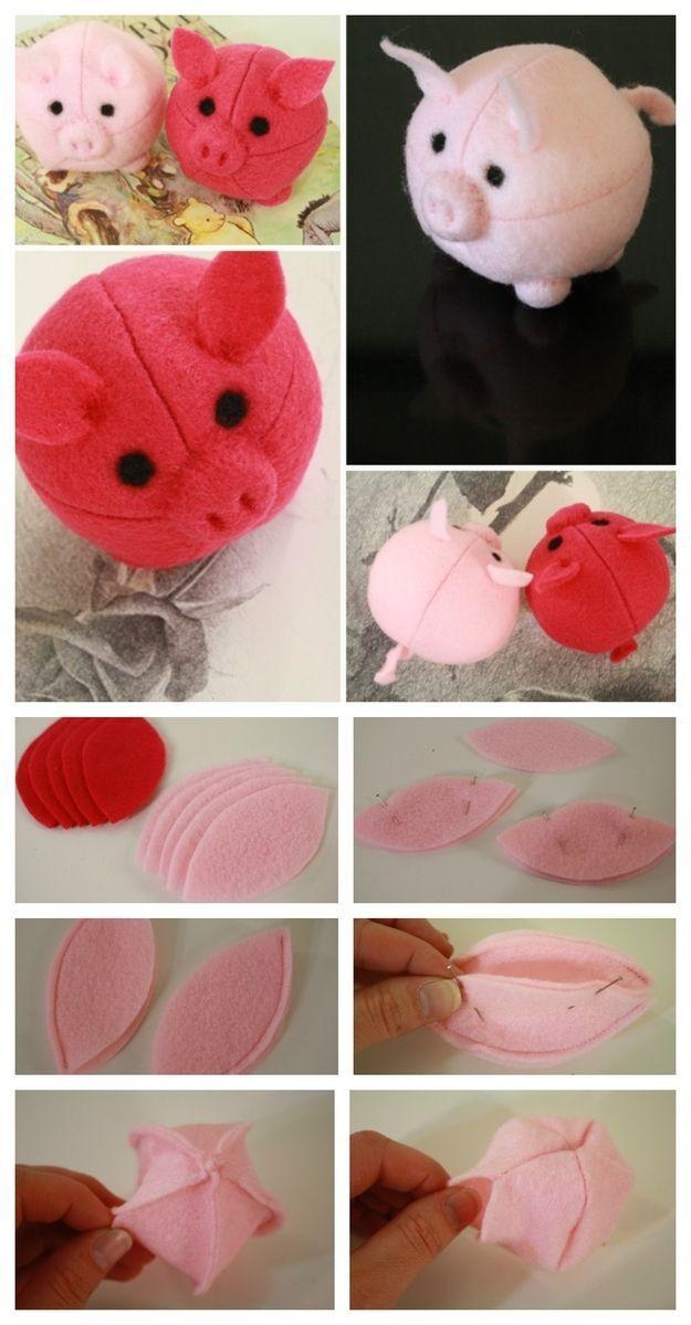 игрушка-свинья на еловую ветку фото 4