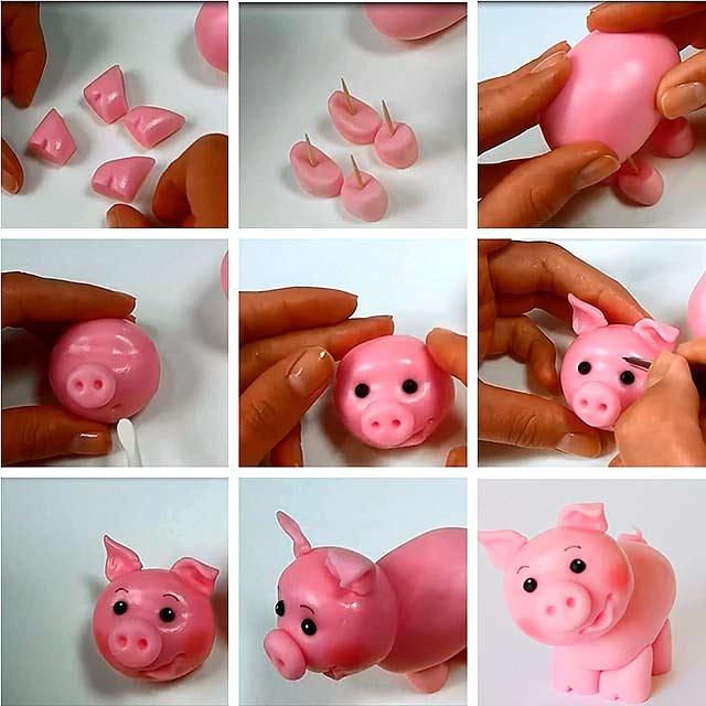 игрушка-свинья на еловую ветку фото 5