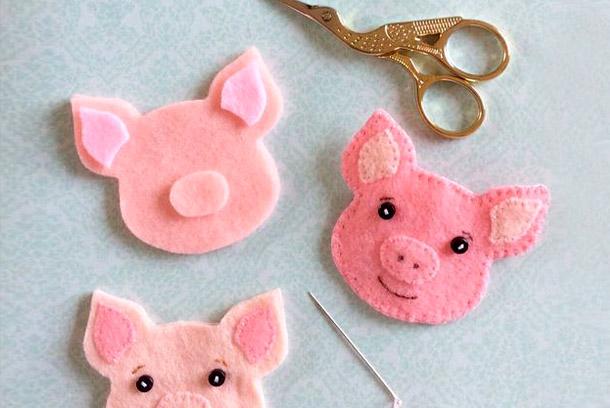 игрушка-свинья на еловую ветку фото 6