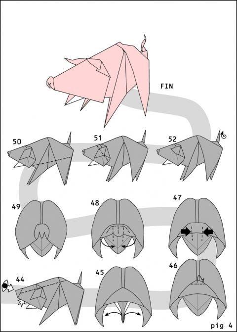 оригами из бумаги и картона схемы фото 3