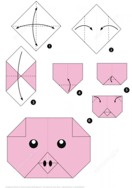 оригами из бумаги и картона схемы фото 5