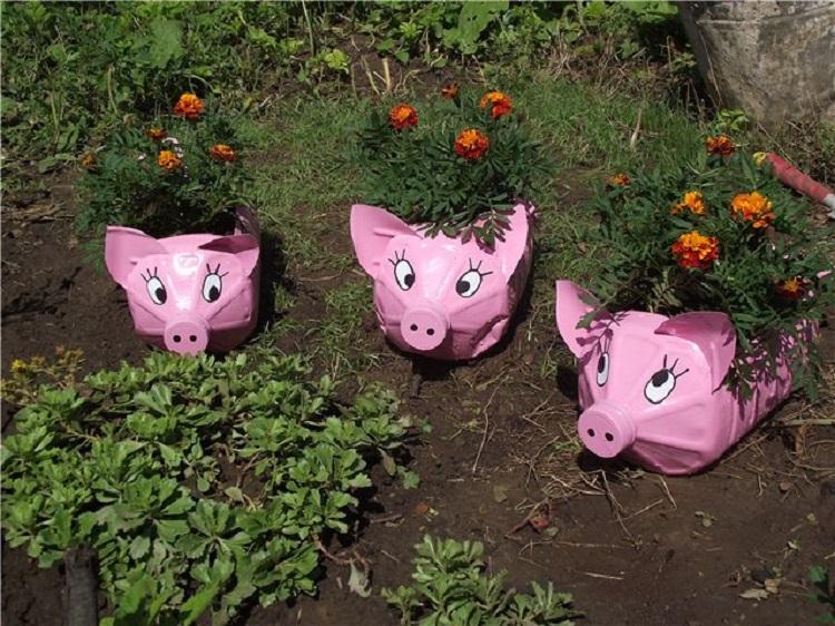 поросенок-плошка для сада и огорода фото 1