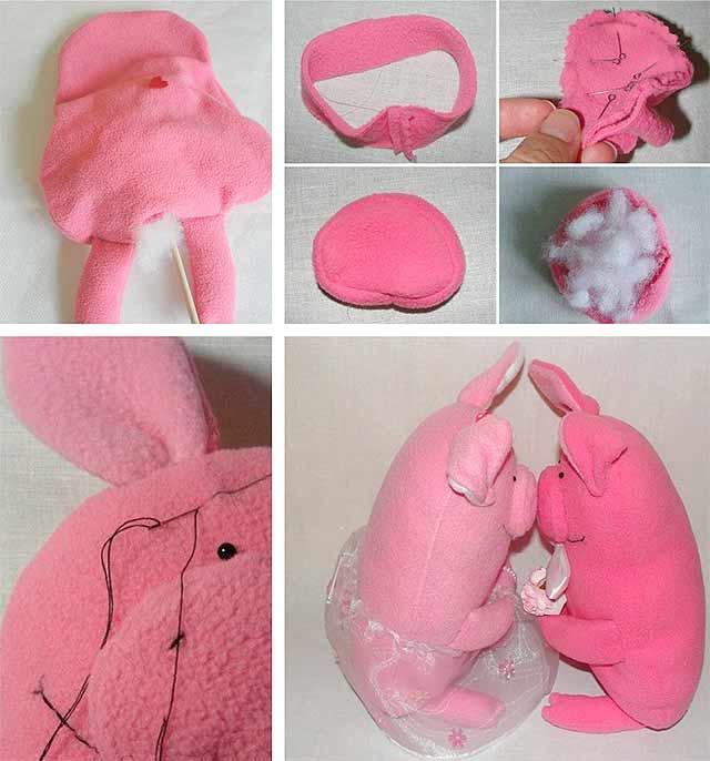 свинья из полотенца выполненная своими руками фото 4