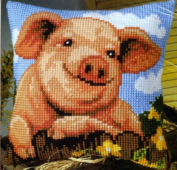 вышивка на декоративной подушке (наволочке) фото 8