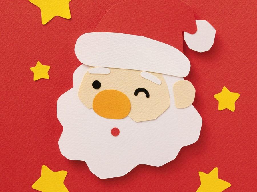 аппликация Дед Мороз фото 1