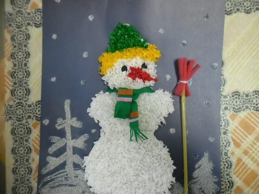 аппликация снеговик фото 2