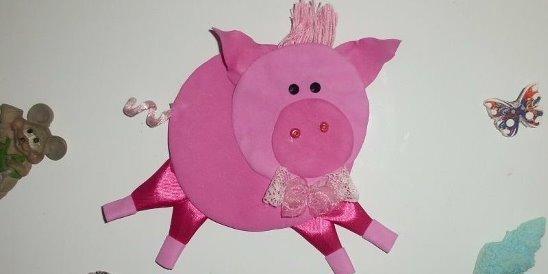 свинка (поросенок) из фоамирана