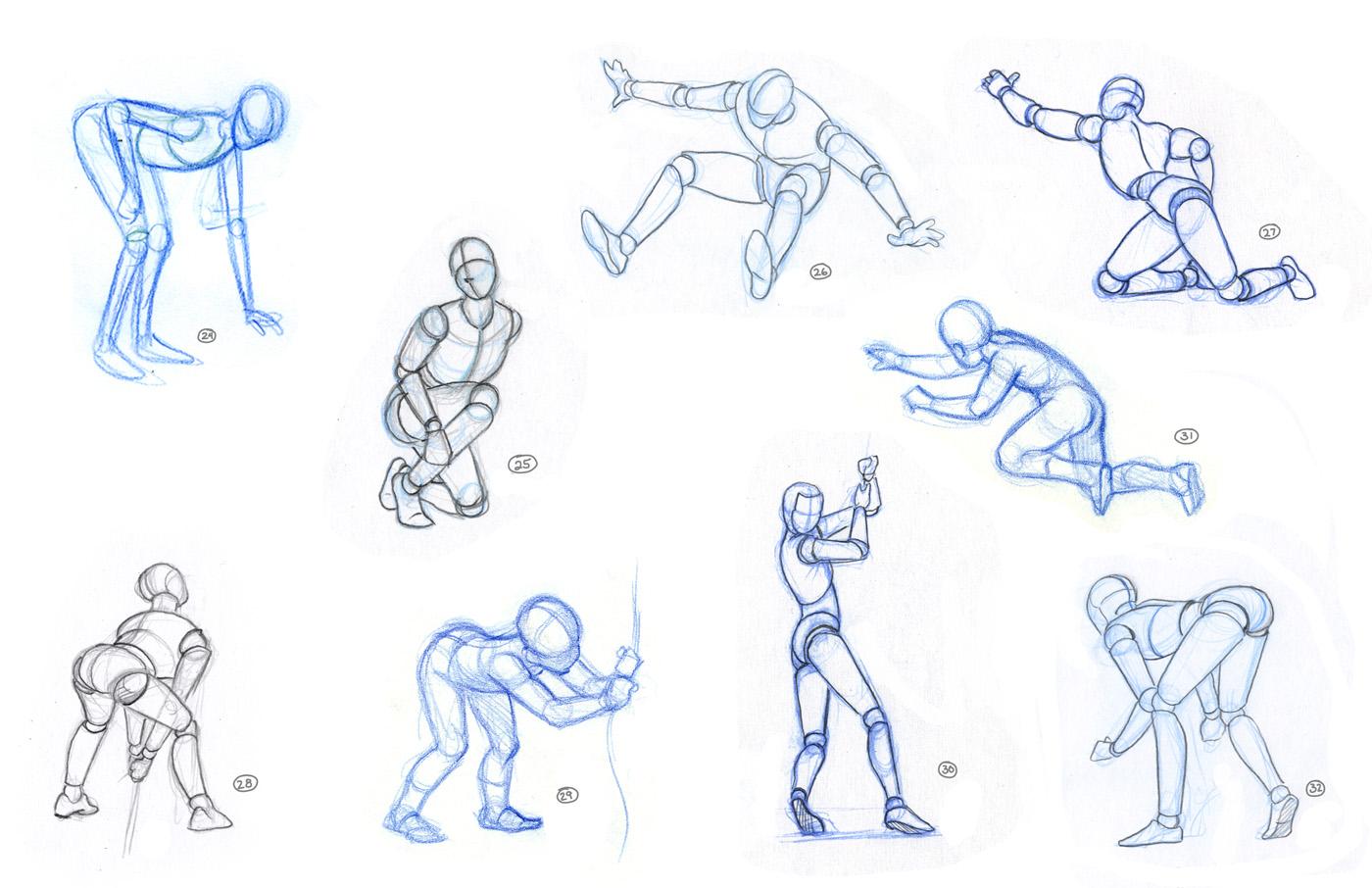 картинки нарисовать человека в движении таких