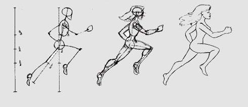 бегущий человек, фото в движении