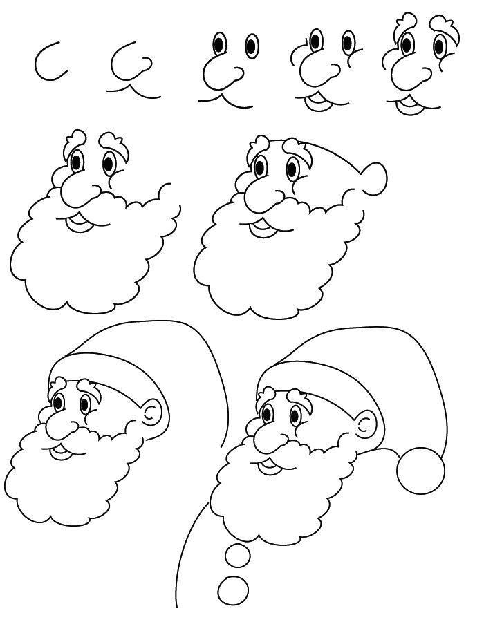 лицо Деда Мороза