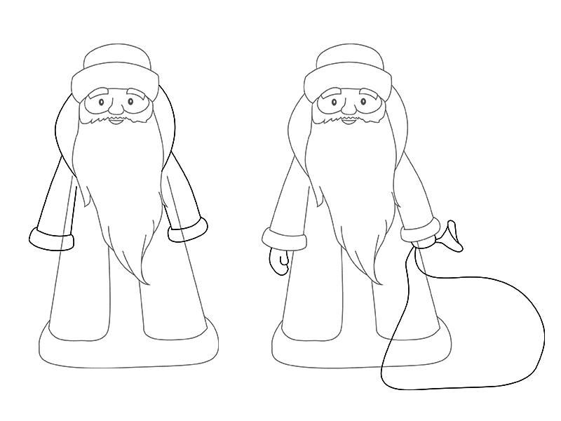 ед Мороз рисунок карандашом на Новый год 2019, как нарисовать фото 3