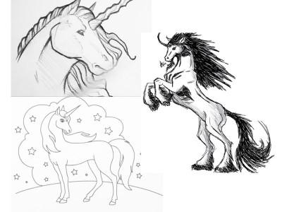 единорог рисунок карандашом для срисовки, фото подборка и идеи 1