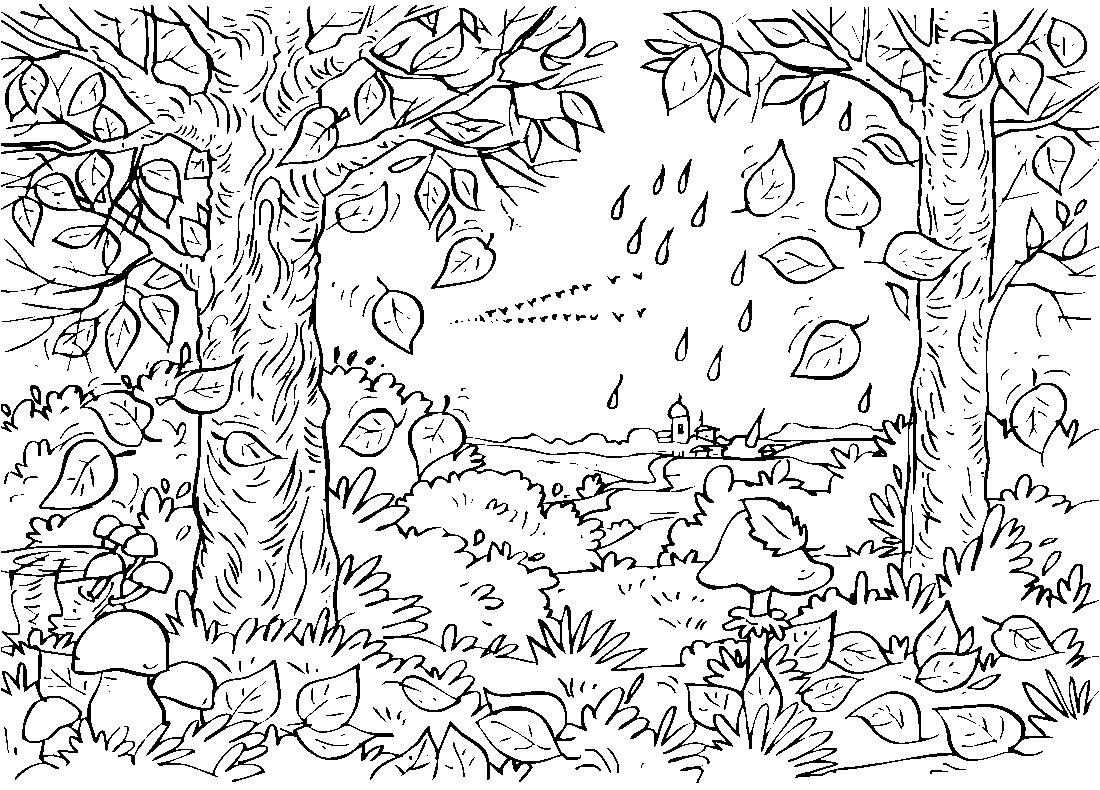 октябрь 2018 рисунки карандашом, фото 4
