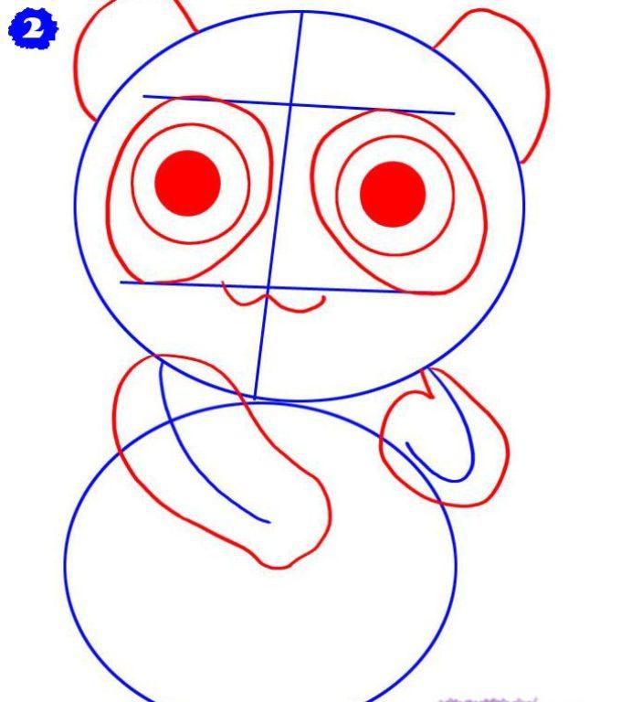 как нарисовать аниме панду из мультфильма карандашом фото 2