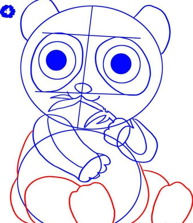 как нарисовать аниме панду из мультфильма карандашом фото 3