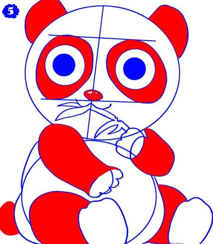 как нарисовать аниме панду из мультфильма карандашом фото 4