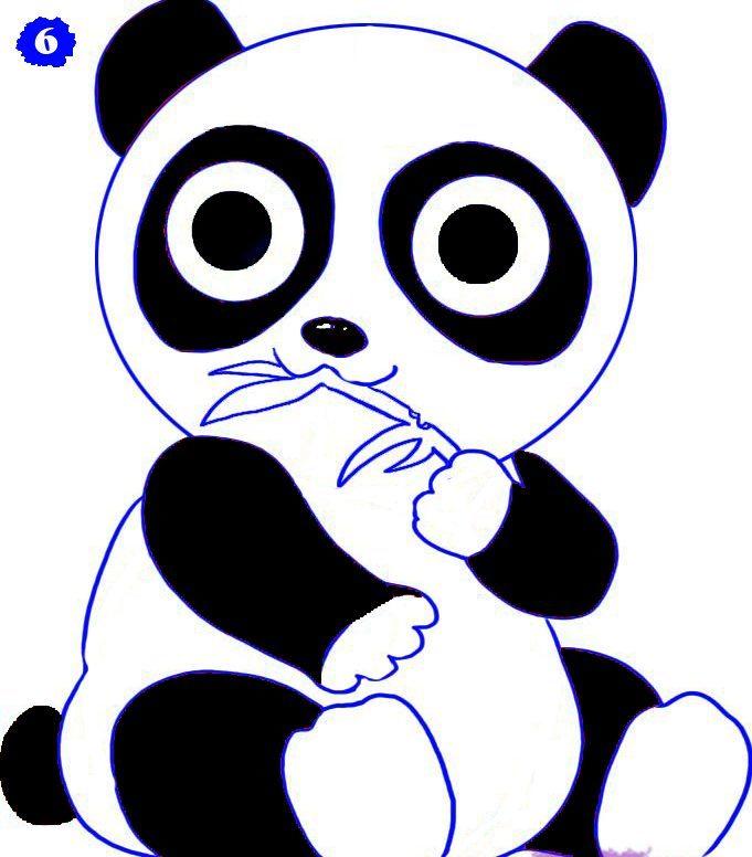 как нарисовать аниме панду из мультфильма карандашом фото 5