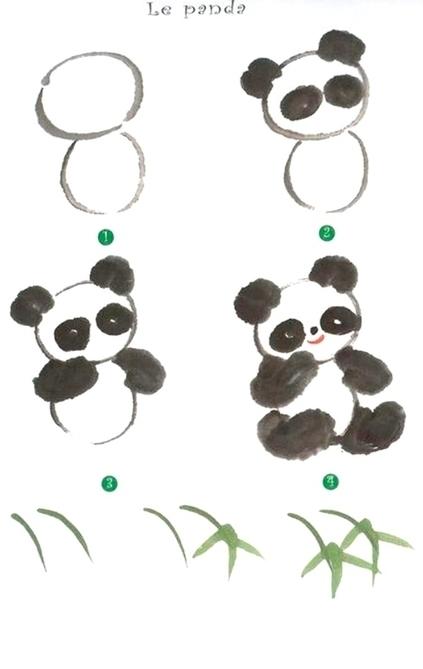 панда рисунок карандашом, фото идеи + мастер-классы 2