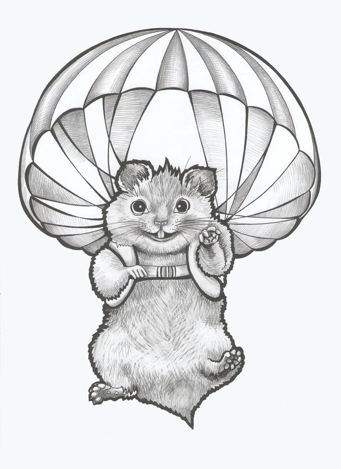 рисунок хомяка карандашом, фото идеи 1